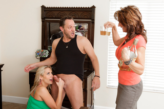One lucky guy gets to fuck both Alanah Rae and milf Deauxma from Naughty America