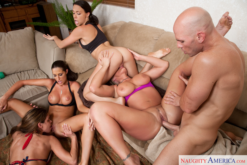 Preston Gagging While Fucked In Orgy