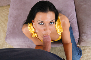 Rachel Starr loves very much to wrap her lips around some cock from Naughty America