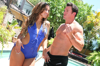 Lynn gives the pool boy some pussy for his hard work from Naughty America