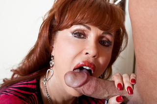 Vanessa is really horny and give Christian a blowjob from Naughty America
