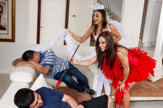 Celeste Star, Gracie Glam &  in Naughty Americans - Naughty America - Sex Position #2