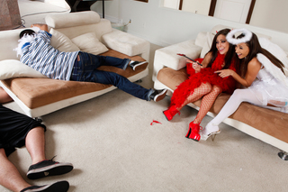Celeste Star, Gracie Glam &  in Naughty Americans - Naughty America - Sex Position #3