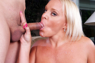 Big tit MILF Alexis Golden loves sucking and fucking from Naughty America