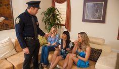 Brandi Love, Eva Karera, Julia Ann & Johnny Castle in My Friend's Hot Mom - Naughty America - Sex Position #1
