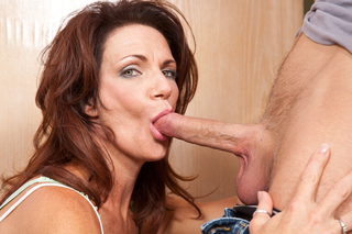Busty milf Deauxma gets what she wants from this young stud from Naughty America