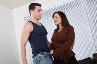 Lisa Ann forces herself on a thick stud from Naughty America
