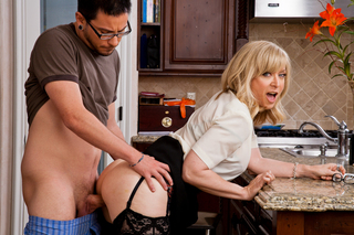 Nina Hartley & Dane Cross in My Friend's Hot Mom - My Friend's Hot Mom - Sex Position #7