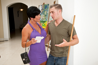 Short haired mom fucks young stud from Naughty America
