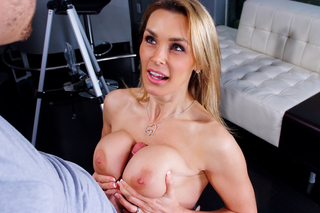 Mom with huge tits fucks her sons friend from Naughty America
