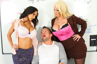 Alura Jenson, Ava Addams & Johnny Castle in My First Sex Teacher - My First Sex Teacher - Sex Position #2