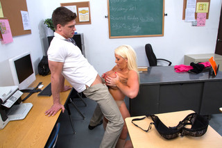 Alura Jenson & Bruce Venture in My First Sex Teacher - Naughty America - Sex Position #6