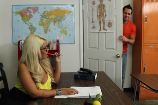 Bridgette B. & Johnny Castle in My First Sex Teacher - Naughty America - Sex Position #1