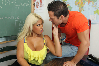 Bridgette B. & Johnny Castle in My First Sex Teacher - Naughty America - Sex Position #3