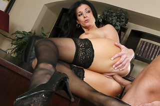 Professor India Summer gets fucked in her sexy stockings from Naughty America
