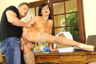 Lisa Ann & Bill Bailey  - Naughty America - Sex Position #6