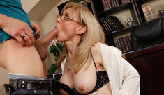 Nina Hartley & Xander Corvus in My First Sex Teacher - Naughty America - Sex Position #2
