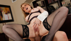 Nina Hartley & Xander Corvus in My First Sex Teacher - Naughty America - Sex Position #4
