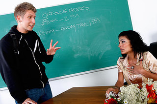 Ms Pele gives one of her students a memorable lesson from Naughty America