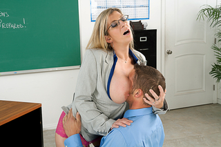Chris Johnson & Sara Jay in My First Sex Teacher - Naughty America - Sex Position #1