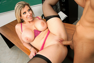 Chris Johnson & Sara Jay in My First Sex Teacher - Naughty America - Sex Position #2