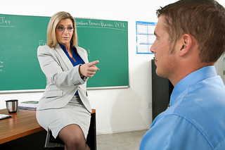 Sara Jay shows her student what its like to fuck a teacher from Naughty America