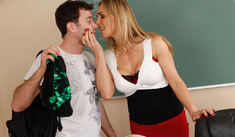 Tanya Tate & James Deen in My First Sex Teacher - Naughty America - Sex Position #1