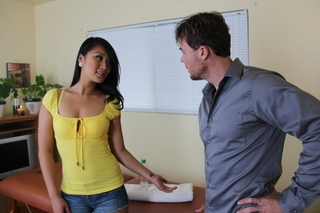Evelyn Lin & Justin Magnum in My Naughty Massage - Naughty America - Sex Position #1