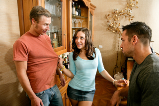 Gracie Glam, Johnny Castle & Michael Vegas in My Sister's Hot Friend - Naughty America - Sex Position #1