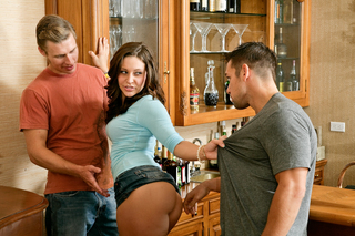 Gracie Glam, Johnny Castle & Michael Vegas in My Sister's Hot Friend - Naughty America - Sex Position #2
