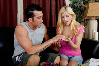 Billy Glide & Haley Cummings in My Sister's Hot Friend - Naughty America - Sex Position #1