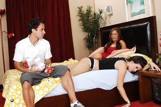 Jaclyn Case, Roxy Deville & Alan Stafford in My Sister's Hot Friend - My Sister's Hot Friend - Sex Position #1