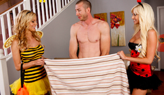 Jessie Rogers, Rikki Six & Jordan Ash in My Sister's Hot Friend - Naughty America - Sex Position #1