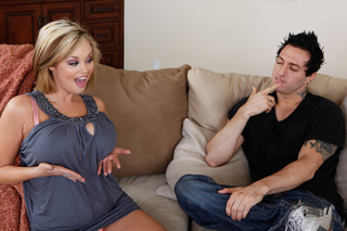 Katie Kox can deepthroat big phat long cocks from Naughty America
