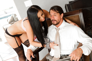 Cheating husband fucks sexy Audrey Bitoni from behind doggystyle from Naughty America