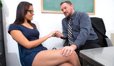 Aria Arial  & Alec Knight in Naughty Bookworms - Naughty America - Sex Position #1