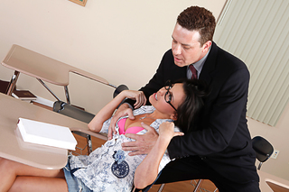 Danica Dillon & Otto Bauer in Naughty Bookworms - Naughty America - Sex Position #2