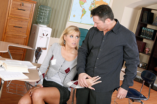 Darcy Tyler gives up the bald blonde pussy from Naughty America