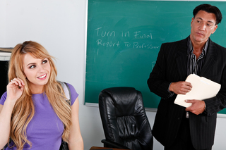 Lexi Belle & Marco Banderas in Naughty Bookworms - Naughty America - Sex Position #1