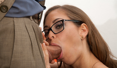 Riley Reid & Tommy Gunn in Naughty Bookworms - Naughty America - Sex Position #2