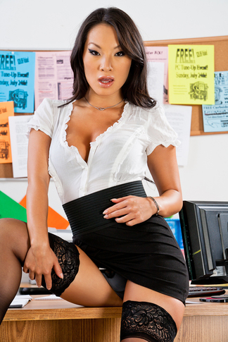 Asa Akira & Rocco Reed in Naughty Office - Naughty America - Centerfold