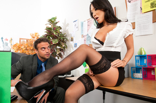Asa Akira & Rocco Reed in Naughty Office - Naughty America - Sex Position #4