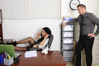 Audrey Bitoni & Johnny Castle in Naughty Office - Naughty Office - Sex Position #1