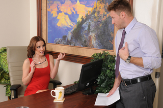 Jasmine Wolff & Levi Cash in Naughty Office - Naughty America - Sex Position #1