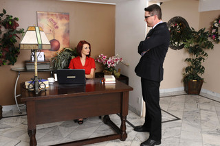 Jessica Robbin & Aaron Wilcoxxx in Naughty Office - Naughty America - Sex Position #1