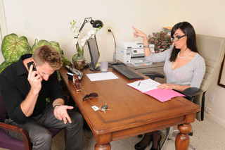 Stacey Foxxx & Levi Cash in Naughty Office - Naughty America - Sex Position #1