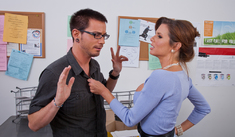 Veronica Avluv & Dane Cross in Naughty Office - Naughty America - Sex Position #1