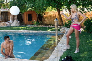 Darcy Tyler gets her pussy filled poolside from Naughty America