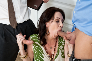 Alia Janine, Ralph Long, Ramon Nomar & Rayveness in Seduced By A Cougar - Naughty America - Sex Position #2