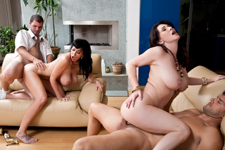 Alia Janine, Ralph Long, Ramon Nomar & Rayveness in Seduced By A Cougar - Naughty America - Sex Position #13